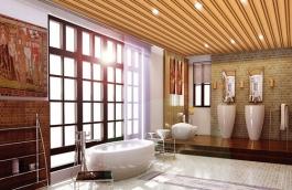 有哪些造型是用生态木材料做背景墙的?
